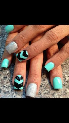 I love bright acrylic nails, perfect for the spring and summer seasons.