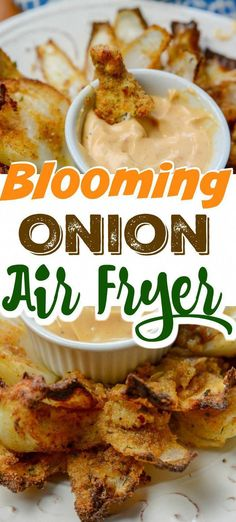 Grab your Ninja Foodi or Air Fryer and make this savory and mouthwatering Air Fryer Blooming Onion. Crunch batter that has a tender and savory onion inside. Air Fryer Recipes Snacks, Air Fryer Recipes Vegetarian, Air Fryer Recipes Low Carb, Air Frier Recipes, Air Fryer Dinner Recipes, Cooking Recipes, Easy Recipes, Ninja Recipes, Cooking Food
