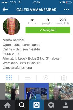 Please follow IG @galerimamakembar