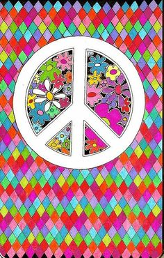 ☮ American Hippie Art ~ Peace Sign Wallpaper