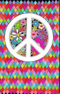 ☮ American Hippie Art ~ Peace Sign Wallpaper