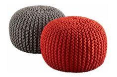 Pattern knit Pouf Zpagetti | Hoooked