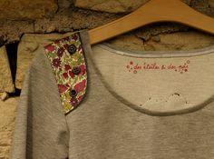 sweat mu détails 1 Sweat Shirt, Pull, Wii, Sewing Patterns, Stitch, Casual, Shirts, Clothes, Fashion