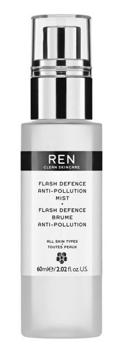 Anti-pollution skincare: the final frontier in anti-ageing. @renskincare Flash Defense Anti-Pollution Mist, £24