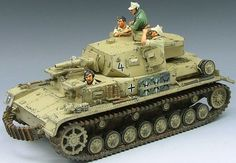 World War II German Afrika Korps Panzer IV Tank set - Made by King and Country Military Miniatures and Models. Factory made, hand assembled, painted and boxed in a padded decorative box. Excellent gift for the enthusiast. Afrika Corps, Ww2 German, King And Country, Military Modelling, Military Diorama, Model Airplanes, Scale Models, Dioramas, Tanks