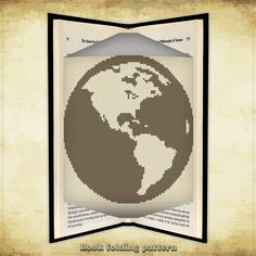 Book folding pattern Earth for 230 folds - ID0888395