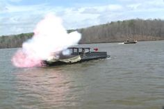 PYRO special effects on training craft.