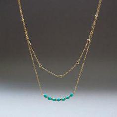 Kaihohonu Necklace  layered necklace sparkley by kealohajewelry