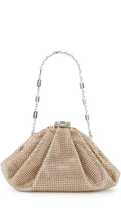 Judith Leiber Couture Enchanted Allover Beaded Pochette Clutch Bag ffc16616c59bf