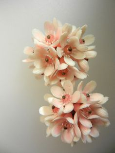 Exquisite powder pink cluster flower  celluloid by RAKcreations