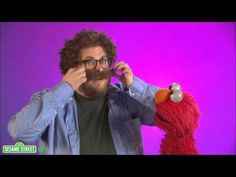Sesame St Word of the Day - moustache! with Jonah Hill and Elmo