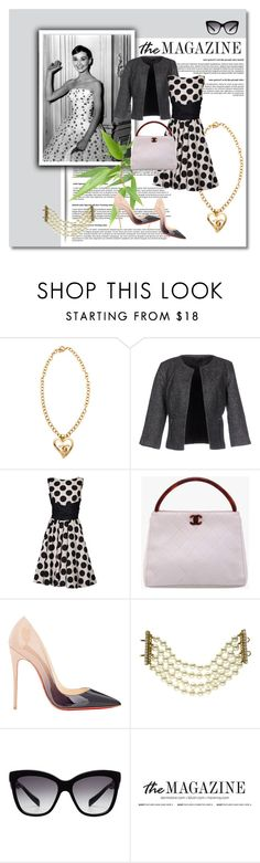 """""LIFE"" MAGAZINE: THE AUDREY HEPBUN EDTION-THE 50's HEP HOP SWAG"" by g-vah-styles ❤ liked on Polyvore featuring ONLY, Jolie Moi, Chanel, Christian Louboutin, Dolce&Gabbana, women's clothing, women's fashion, women, female and woman"