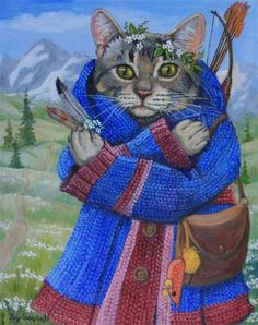 """The Huntress"" - Original Fine Art for Sale - © Joy Campbell"