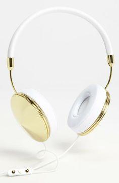 Gold headphones | just gorgeous