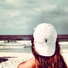 Polo hat and beach waves
