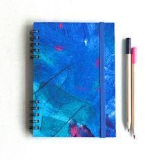 Cuaderno Océano azul. Pintado a mano. 10x15 cm por kinmcuadernos, €12.00