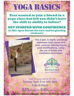Santa Cruz, CA Ever wanted to join a friend in a yoga class but felt you didn't have the skill or ability to follow? Think you're too old? Too uncoordinated? Wrong body type? Not flexible enough? Maybe you've be… Click flyer for more >>