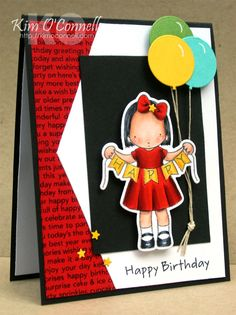 MFT Pure Innocence Happy Banner stamp set and coordinating Die-namics and MFT Die-namics Balloon STAX by Kim O'Connell