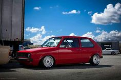 Lovely red mk1 golf