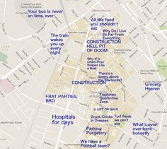 30 Best Judgmental Maps of College Campuses images | Blue prints ...