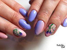 Nails Arc-en-ciel: Nail Art - Petites fleurs de violettes printanière...