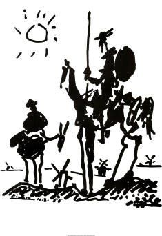 Don Quixote, c.1955 Art Poster Print by Pablo Picasso, 24x36 - List price: $9.00 Price: $1.77
