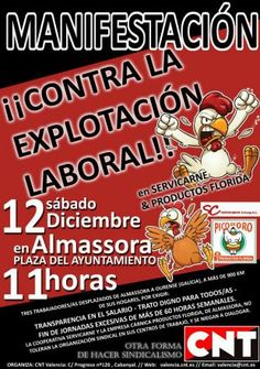 CNT-AIT VALENCIA CONVOCA UNA MANIFESTACION CONTRA SERVICARNE | CNT Puerto Real