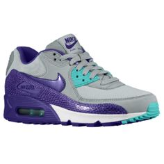 fe1aa18b59 Nike Air Max 90 - Women's - Silver Wing/Hyper Grape/Hyper Jade/Court Purple