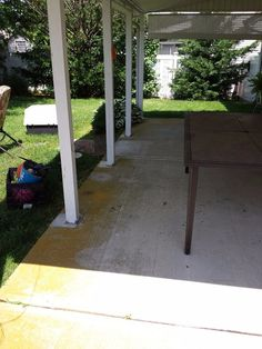 I gave my tired looking outdoor patio a power wash and decorated it to give it a resort feel. The dirty stained concrete needed a power wash. I am also thinking…