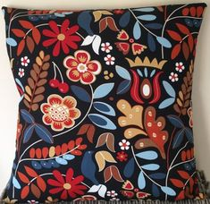 Black Scandinavian style handmade cushion in various sizes