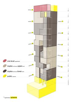 Image 5 of 23 from gallery of Wind Tower / AGi Architects. Courtesy of AGi architects Conceptual Model Architecture, Conceptual Sketches, Architecture Program, Architecture Concept Diagram, Architecture Drawings, Architecture Design, Classical Architecture, Agi Architects, Presentation Layout