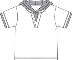 Children Flat Fashion Sketch