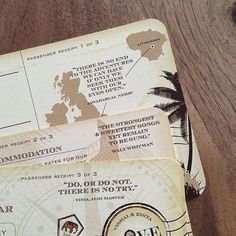Vintage-inspired Travel ticket Destination Wedding Invitation, Map and RSVP Card by Love, Paper & Ink