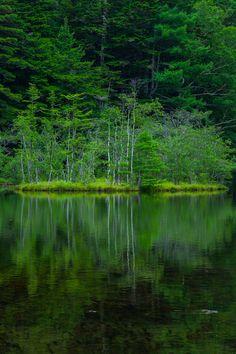 Lake Myojin, Nagano, Japan