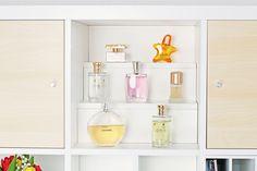 Stufeneinsatz PRAESENT - #Parfüm #Aufbewahrung in #Kallax #Regal von #Ikea // #Shelf insert PRAESENT - #Perfume #storage in Kallax shelf from Ikea