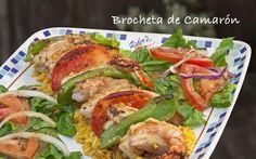 Brocheta de Camarón #food #comida #alimentos #fishers #gourmet #mexico #delicias