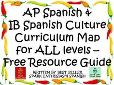 In order to prepare students well for AP Spanish Tests, IB Spanish  Tests, and College Entrance Exams, teachers of all levels must work together to teach Spanish and Latin American culture effectively and efficiently.  Thus, students will be better prepared to live in a global society and to be truly proficient in Spanish.