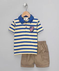 Stripe Polo & Shorts by Sweet & Soft Boys on #zulily today!