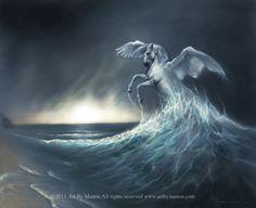 pegasus pictures to print | Birth of Pegasus Original Art Signed Metallic Print