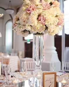 wedding flowers and centerpiece