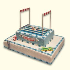 Olympic Swimming Pool Cake Cutestfoodcom