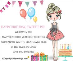 Happy Birthday, Sweetie Pie