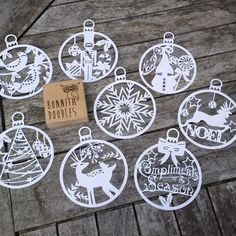 Christmas Baubles set of 8 can be resized COMMERCIAL