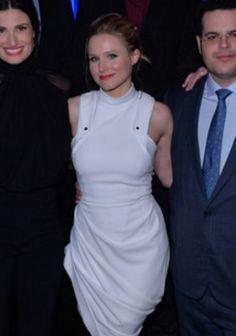 I love Kristen Bell's white dress!