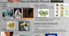 Even geologists can have a difficult time identifying minerals. There are over known minerals, and approximately new ones are discovered each year. Of all these, only a few hundred are considered common. Earth Science Lessons, Science Lesson Plans, Chemical Property, Chemical Reactions, Rocks And Minerals, Craft Fairs, Geology, Ideas, Thoughts