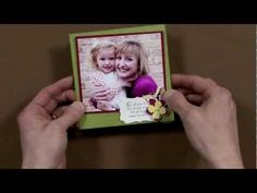 How to make an easel card - video