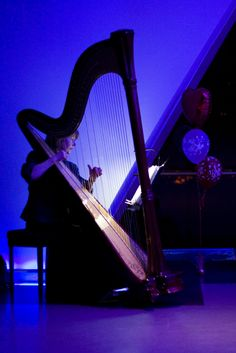 I have a secret wish to learn to play the harp....it produces such hauntingly, beautiful music.