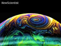 Heating soap bubbles from underneath creates vortices, some reminiscent of Jupiter's Red Spot!