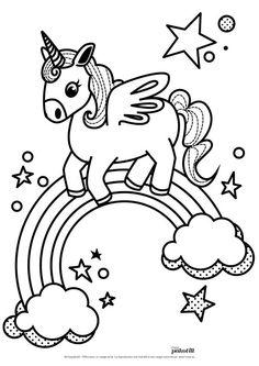 Cute My Little Unicorn Coloring Page Print Color Fun