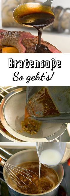 Bratensoße selber machen – so geht's This is the classic too meat and other meat! Vegan Tikka Masala, How To Make Gravy, Making Gravy, Salsa, Hamburger Meat Recipes, Homemade Sauce, Indian Dishes, Vegetable Drinks, Grilling Recipes